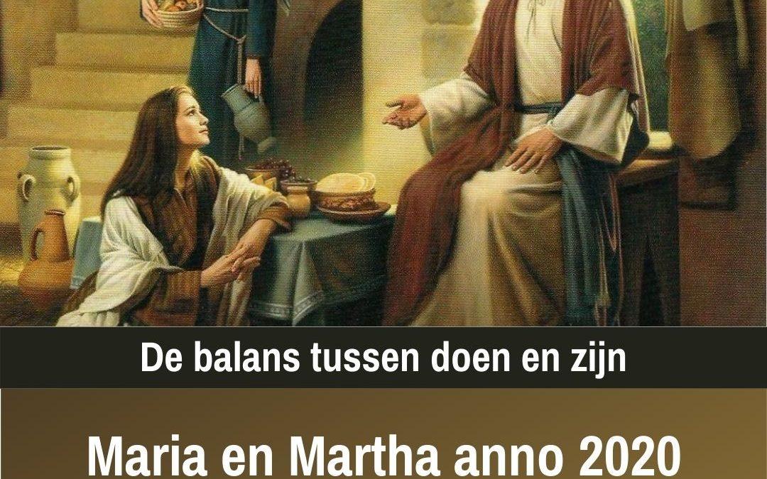 Marta en Maria – Balans tussen doen en zijn